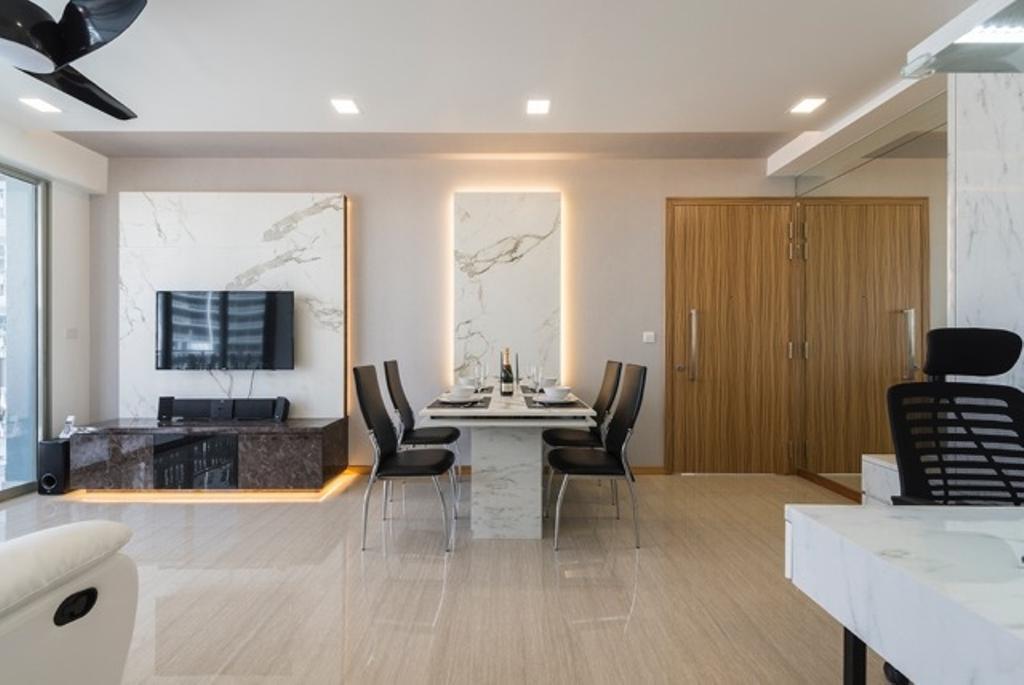 мрамор в интерьере гостиной