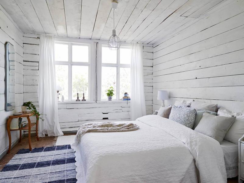 скандинавская спальня фото