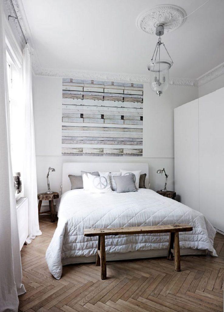 спальня в доме в скандинавском стиле