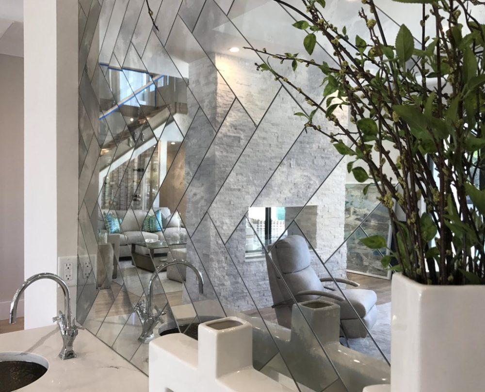 зеркальная плитка дизайн