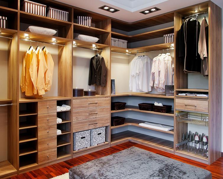 современный дизайн гардеробной