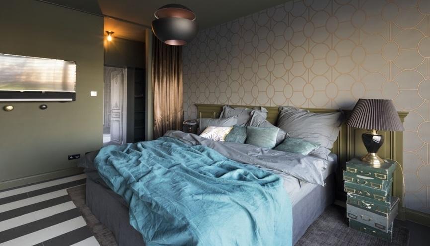 цвета в спальне интерьер