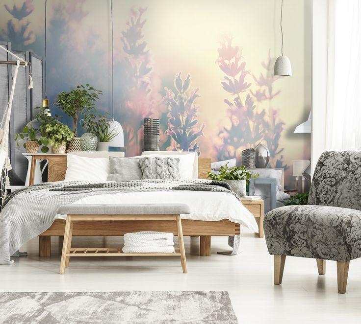 цвет обоев спальни фото