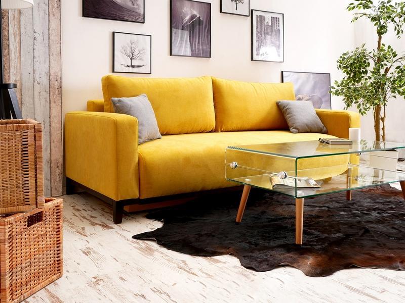 диван ярко желтый