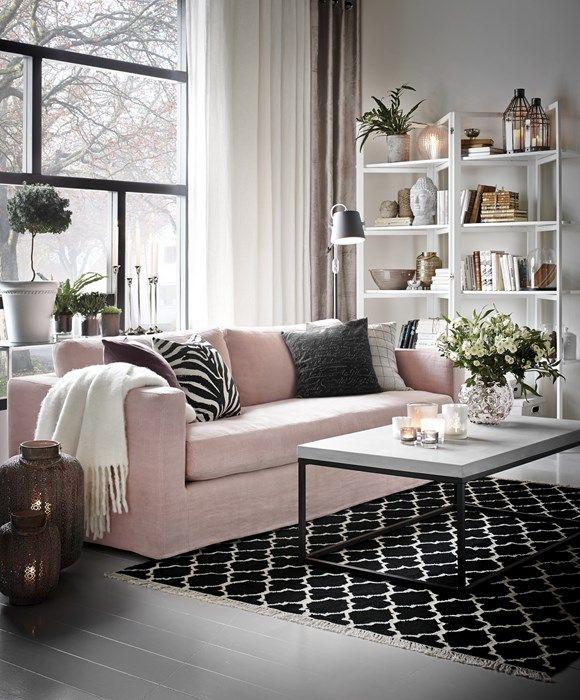 диван велюр розовый