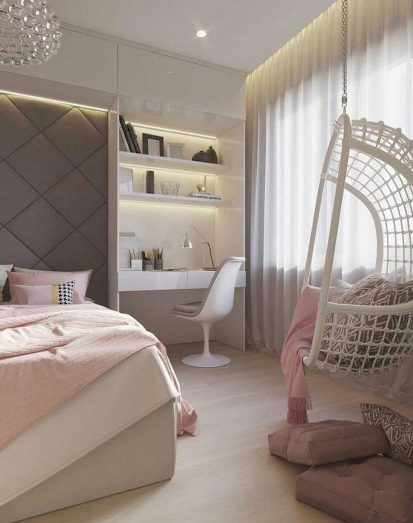 светлые спальни фото