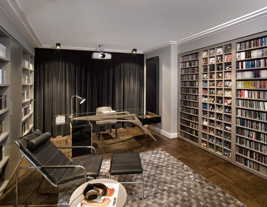 домашняя библиотека квартире