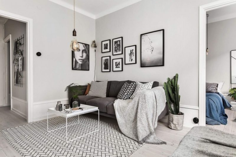 какой цвет подходит к серому дивану