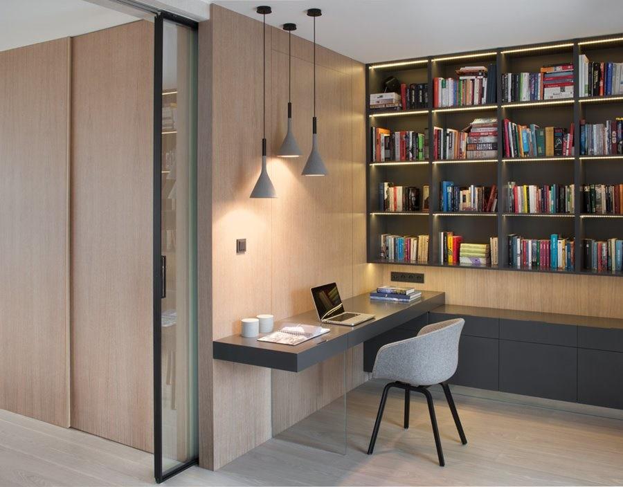 гостиная библиотека дизайн