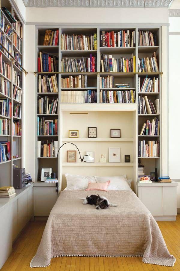 домашняя библиотека комната