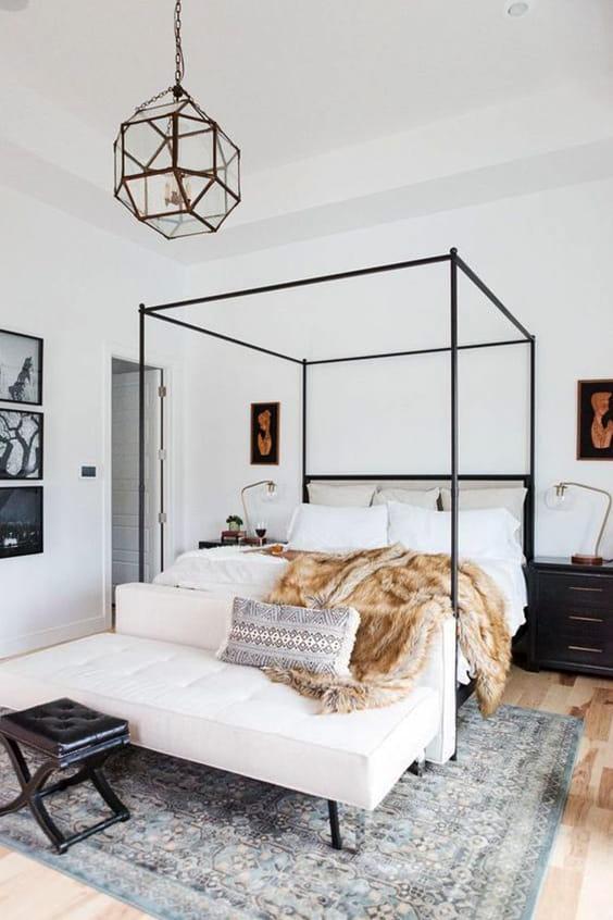 коврик в спальню в интерьере