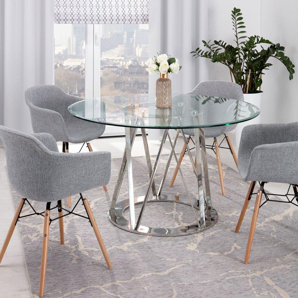 Элегантный столы со стеклянной столешницей