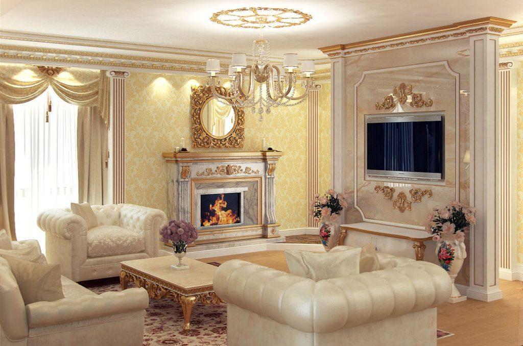 классическая мебель для гостиной фото