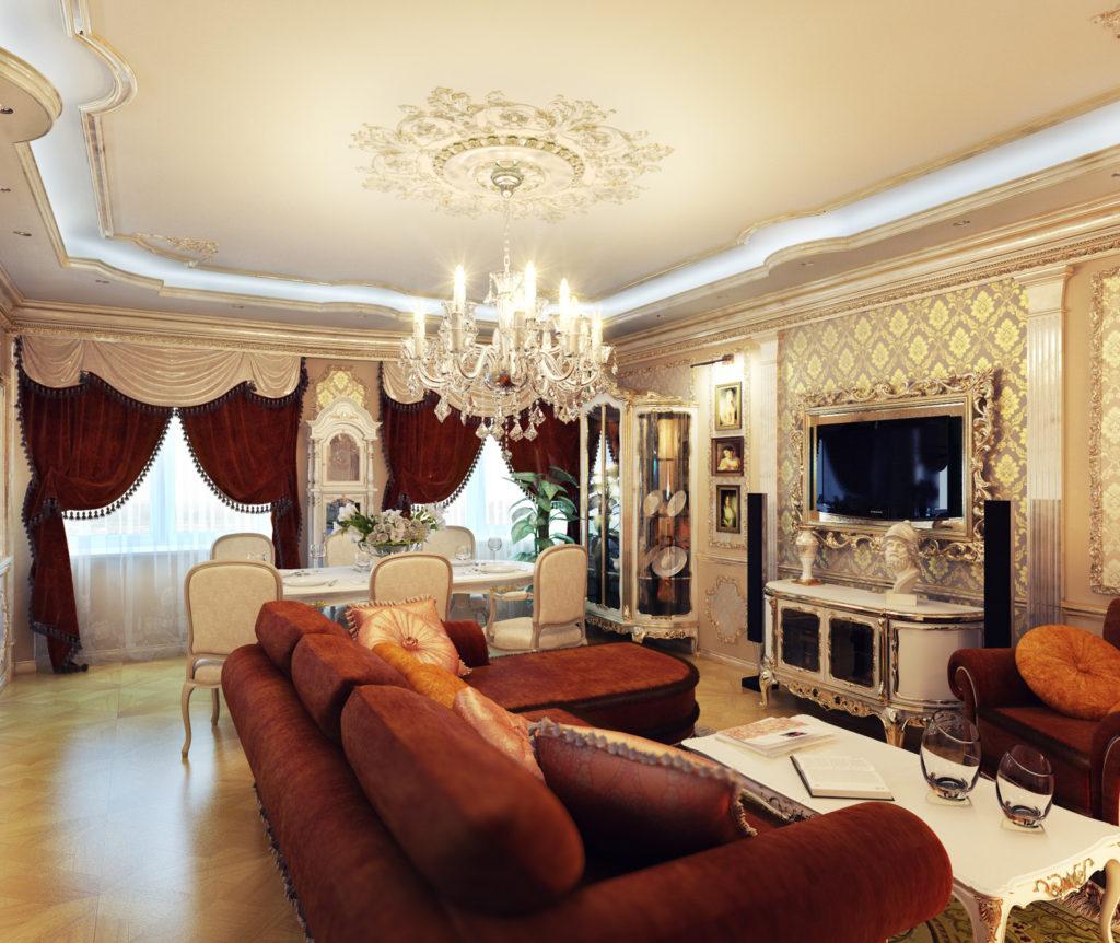 мебель в комнату в классическом стиле
