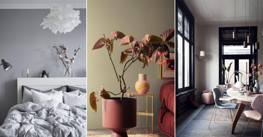 сочетание серого с другими цветами в интерьере