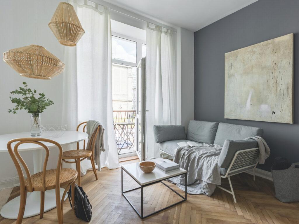 сочетание цвета в интерьере гостиной