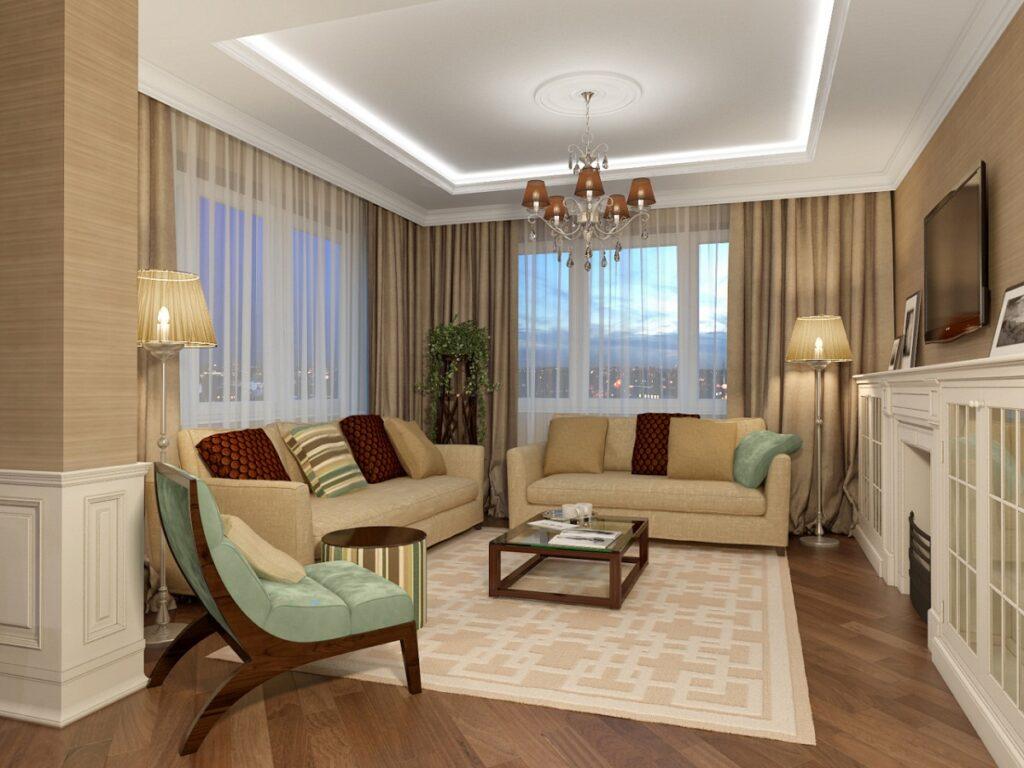 цвет гостиной в квартире