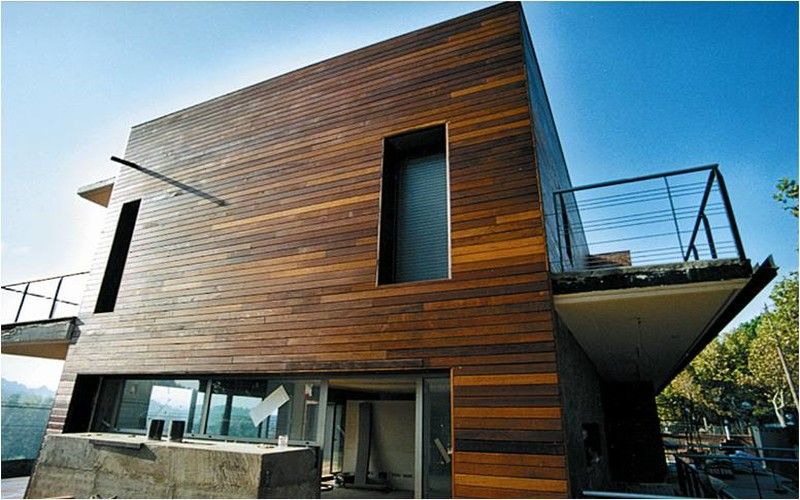 фасад деревянного дома