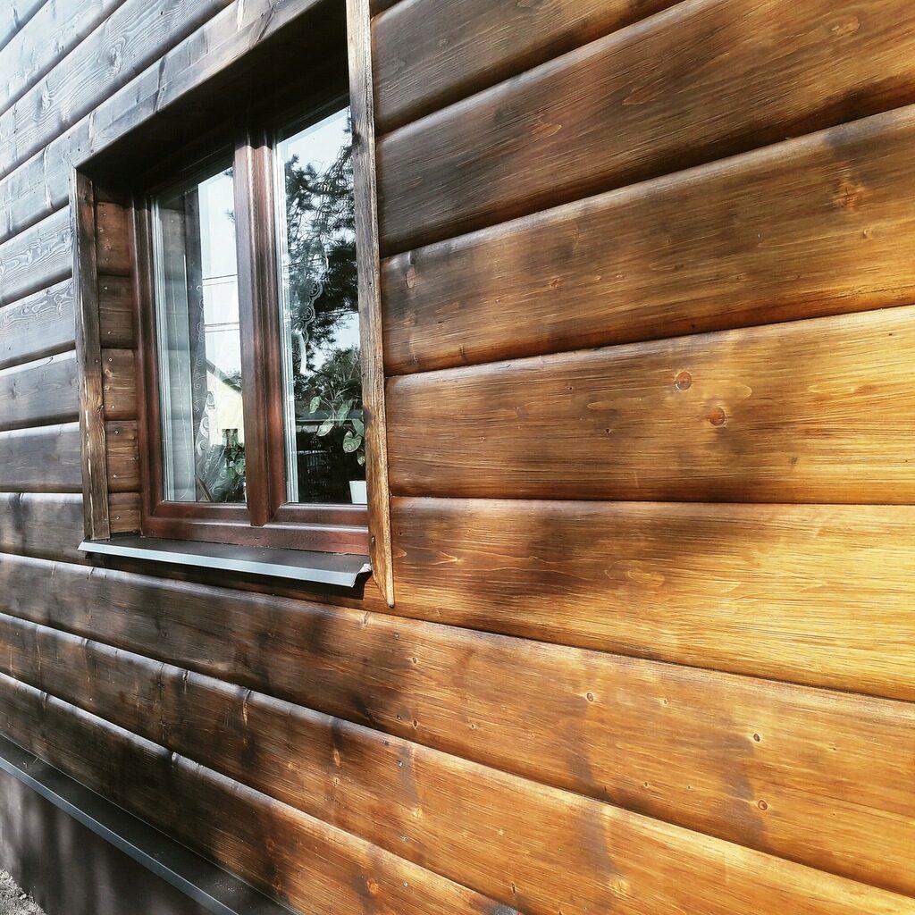 фасад деревянного дома сайдингом