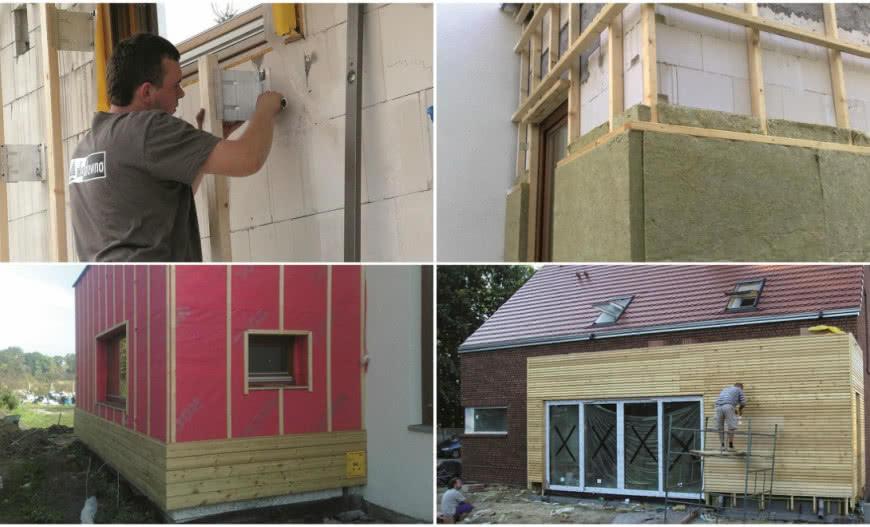 краска деревянный дом