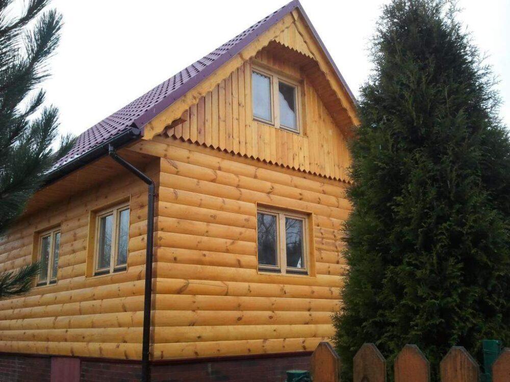 фасады из массива дерева