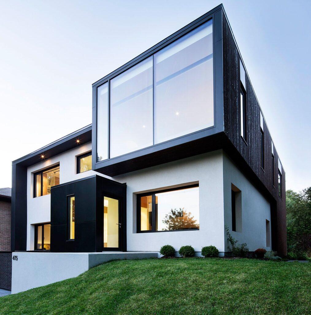 современный дом с плоской крышей