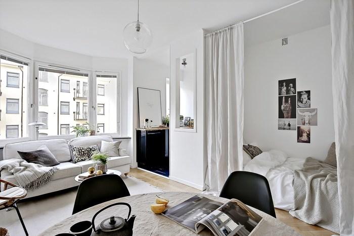 гостиная спальня квартире