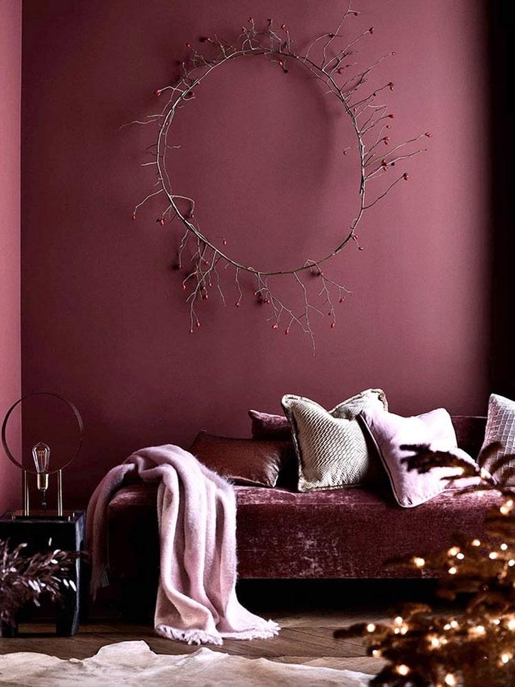 фото интерьера бордового цвета