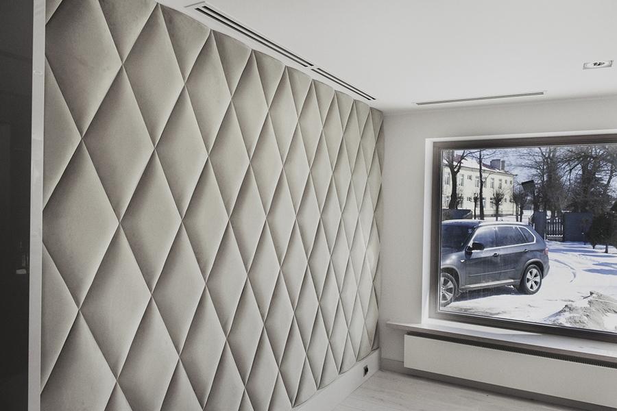 мягкие самоклеющиеся шумоизоляционные 3d панели для стен