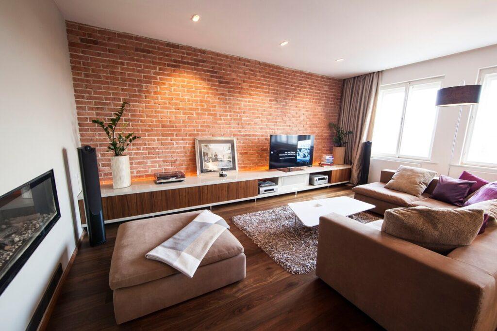 кирпичный интерьер в квартире