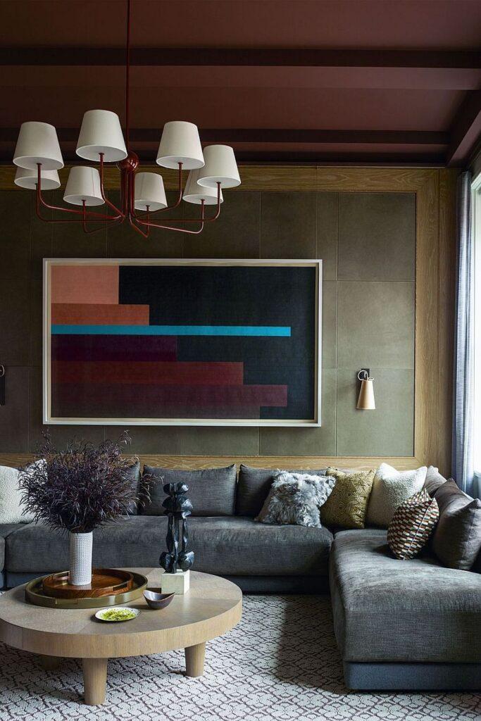оливковые стены в интерьере фото