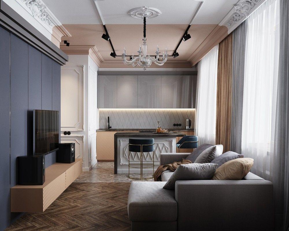 люстры для низких потолков гостиной