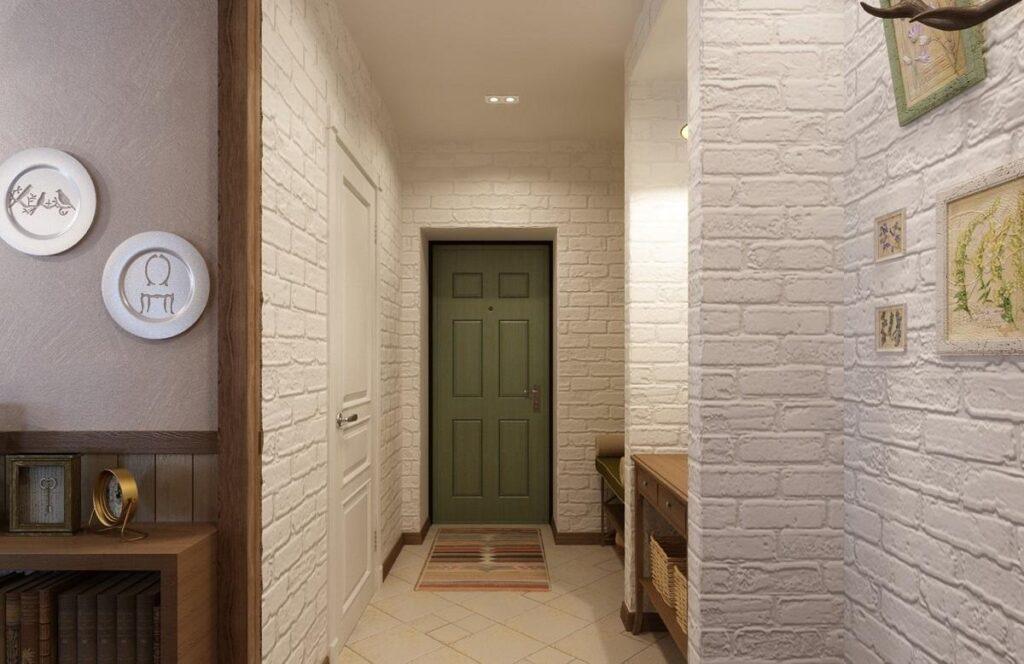 кирпичная стена белого цвета