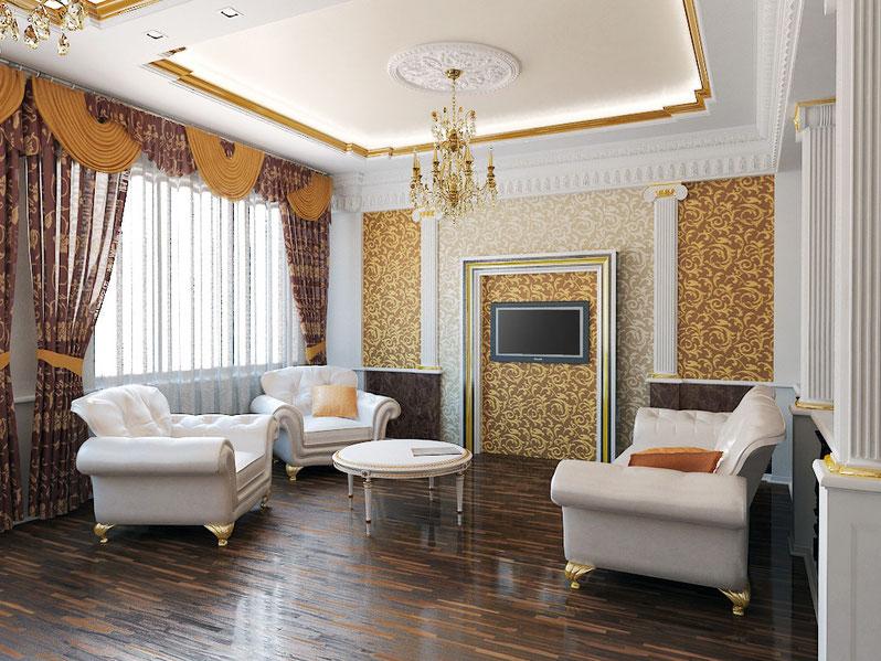 потолок гостиного комната