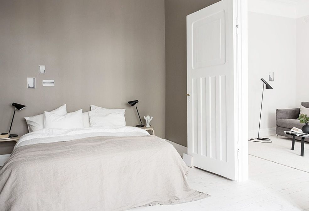 светло бежевая спальня