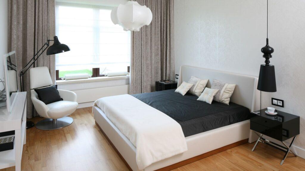 белые классические спальни