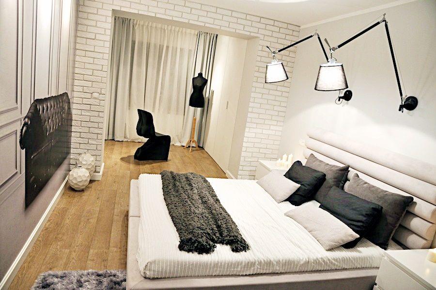 спальни белого цвета фото