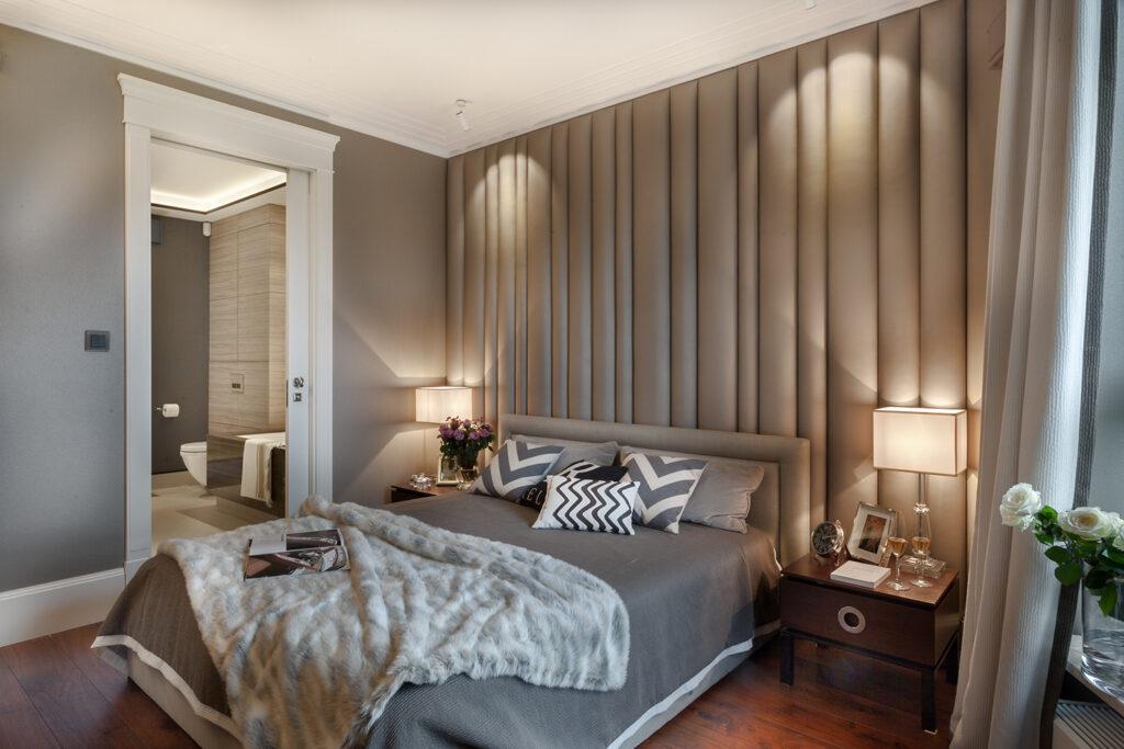 спальня в бежевом стиле