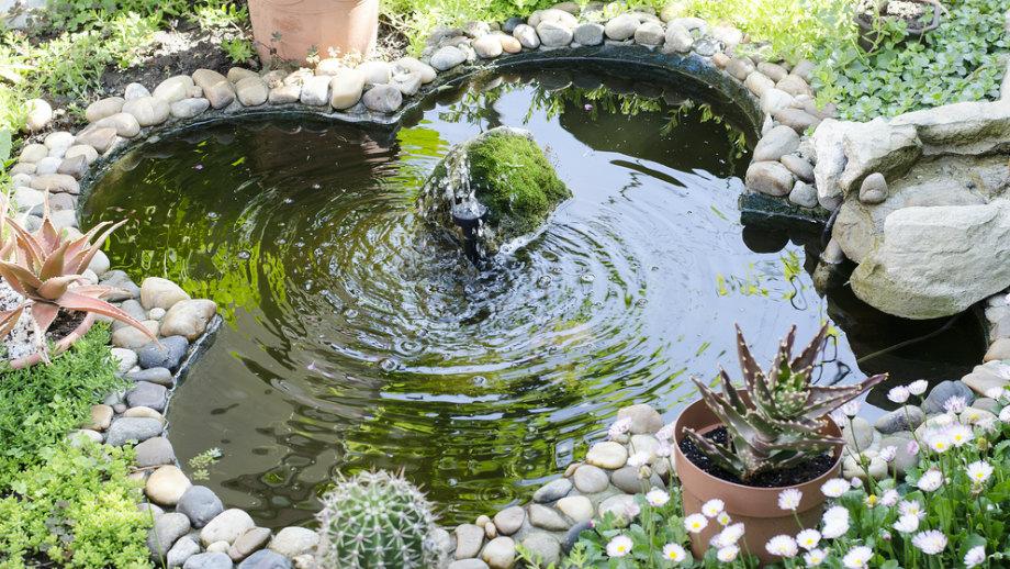 как сделать декоративный пруд
