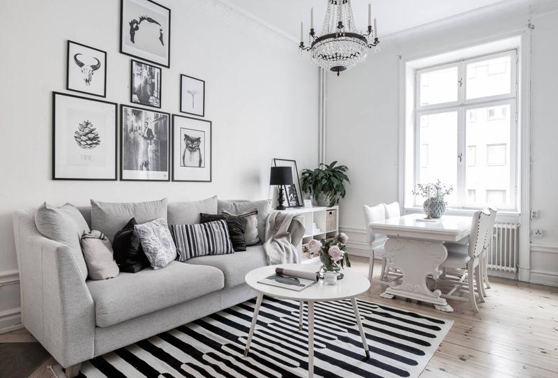 гостиная в белом стиле
