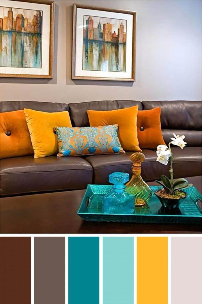 сочетание серого цвета в интерьере гостиной