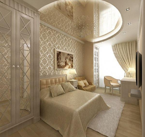 кремовая спальня дизайн фото