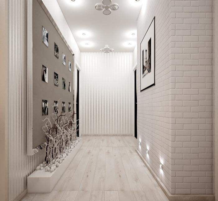 кирпич в коридоре