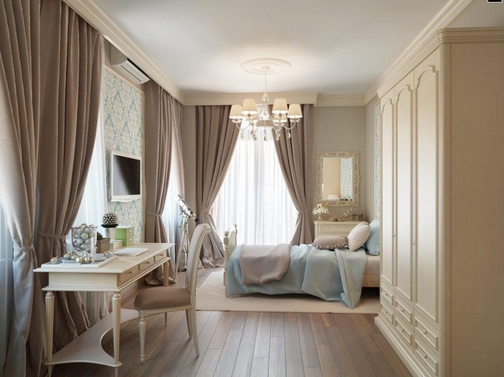 спальня в бежевых цветах