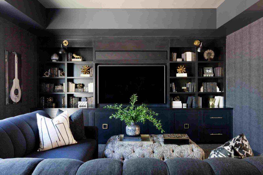 гостиная в черном цвете