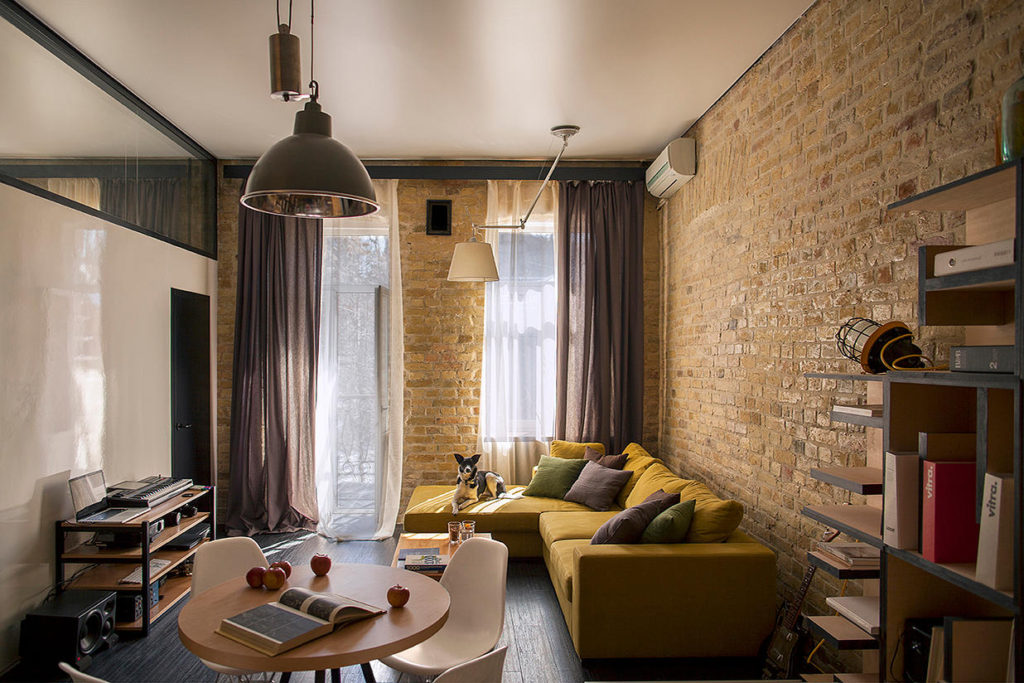 дизайн проект квартиры лофт
