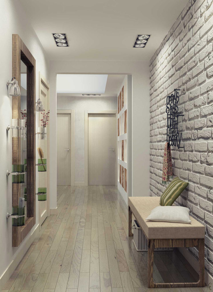 современный дизайн маленького коридора