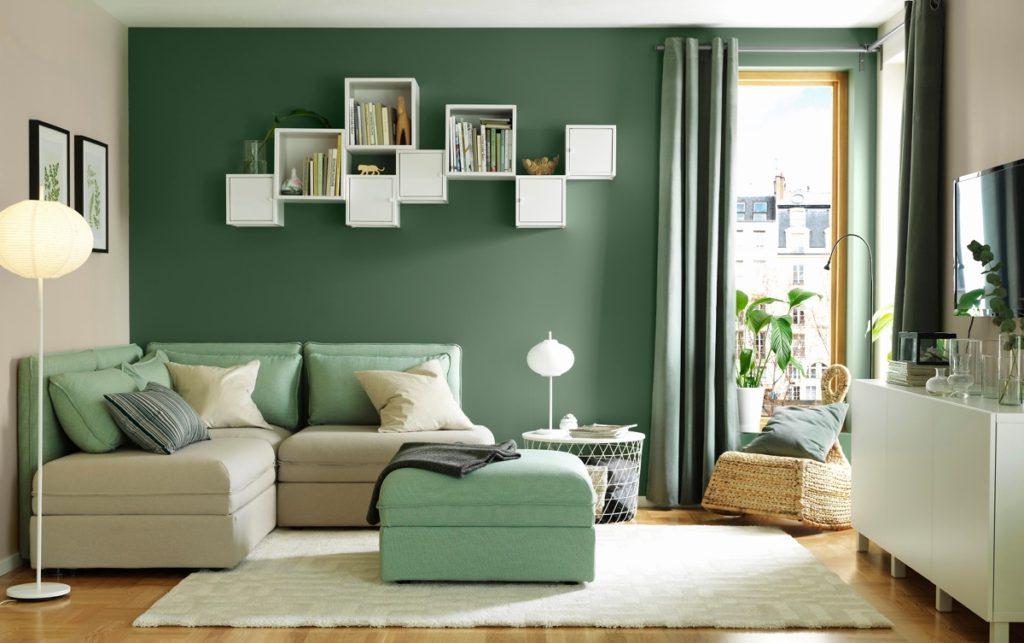 сочетание цветов +в интерьере зеленый