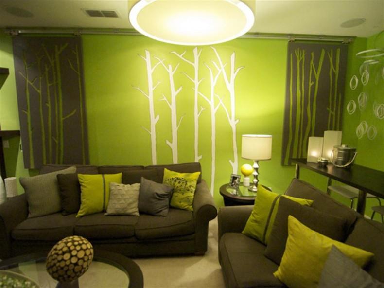 зал зеленого цвета