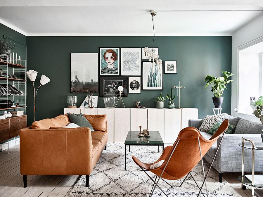 скандинавский зеленый стиль